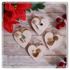 Set of 4 Mini Christmas Angels rustic wooden ornaments | Etsy