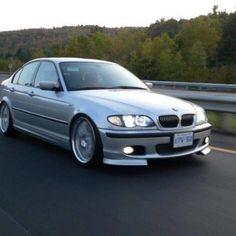 Silver BMW zhp 330i stanced E46