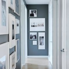 """18 Likes, 2 Comments - Niche Decor (@niche_decor) on Instagram: """"Absolutely love this gallery wall hallway!  #homedecor #interiordecor #contrast #greywalls…"""""""