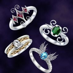 Ring designs by Darla-Illara.deviantart.com on @DeviantArt