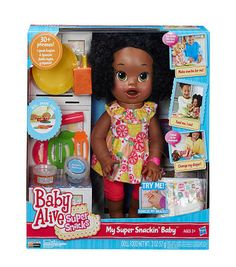 Baby Alive Super Snackin' Sara - African American