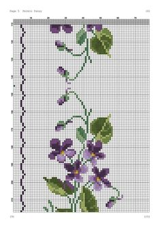 Cross Stitch Borders, Cross Stitching, Cross Stitch Embroidery, Embroidery Patterns, Cross Stitch Patterns, Textiles, Crossstitch, Flower Ornaments, Loom Beading