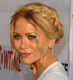 Em... you could be the 3rd Olsen twin! I like this hair for the front of an up-do!