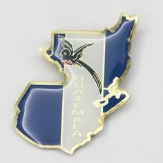 Souvenir Fridge Magnet Metal Map Guatemala