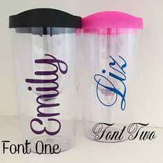 Personalized Water Bottle Nurse Teacher by DecoratedBliss on Etsy Personalized Gifts For Her, Personalized Bridesmaid Gifts, Personalized Tumblers, Personalized Water Bottles, Custom Tumblers, Customized Gifts, Beach Cups, Wine Names, Wine Tumblers