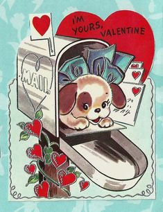 Valentines from the Pup \u2014 notecard collection