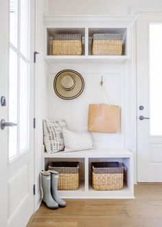 Are you looking to maximize storage and functionality in your home? We love adding a mudroom area and we have lots of inspiration on the blog.