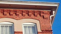 Aiken library brick cornice