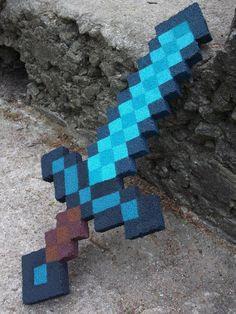Brady thinks he'd like a blue diamond Minecraft sword for a cake- something like this?