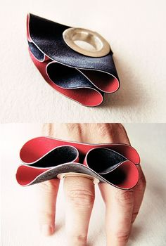 Greek jeweller Niki Stylianou - rubber and silver ring - waaaaant it !!!!!!!