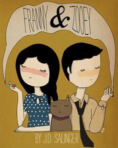 Franny y Zooey ilustración impresión por NanLawson en Etsy