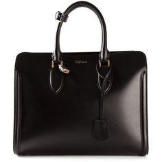 4fe148370 Alexander McQueen Heroine tote found on Polyvore Tote Purse, Tote Handbags,  Black Leather Handbags