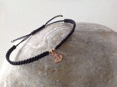 Items similar to Anchor Rose gold delicate charm friendship macrame bracelet. on Etsy Macrame Bracelets, Stretch Bracelets, Anchor, Friendship, Delicate, Rose Gold, Charmed, Unique Jewelry, Handmade Gifts
