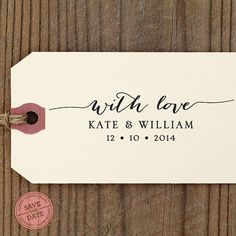 With Love CUSTOM SELF INKING stamp Eco Friendly by savethedate, $29.95