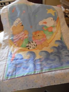 Quilt Crib Quilt Bunny and Teddy Crib Quilt  #Handmade