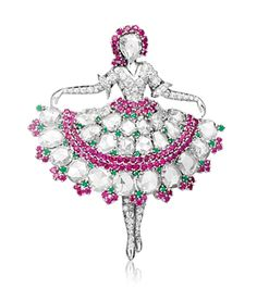 Ballerina clip, 1943, Van Cleef & Arpels' Collection. Photo courtesy of Van Cleef & Arpels