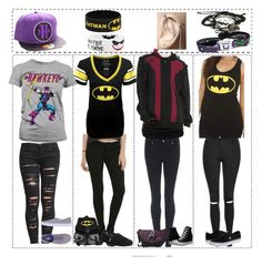 """""""Hawkeye and Batman fangirl outfits"""" by katlanacross ❤ liked on Polyvore featuring BLANKNYC, TOMS, Vans, Converse, Topshop, DC Shoes, batman and Hawkeye"""