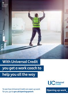 "Universal Credit Work Coach Advert - Captioned with ""Does Work Coach Help You…"