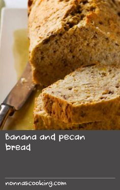 Banana bread is a popular cake at cafes, and incredibly simple to bake at home. Often made with walnuts, this recipe uses pecans instead for that delicious nutty flavour, and yeast to create a real bread texture. Tasty Bread Recipe, Yeast Bread Recipes, Delicious Cake Recipes, Yummy Cakes, Yummy Food, Cake Recipes At Home, Easy Cake Recipes, Pecan Recipes, Banana Recipes