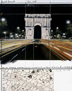 By Christo and Jeanne-Claude L'Arc de Triomphe Wrapped (Project for Paris, Place de l'Étoile – Charles de Gaulle) 'll be on view for 16 days from Sat to Sun Photo A. Casablanca, Bulgaria, Christo Art, Running Fence, Christo And Jeanne Claude, Art Fund, Unknown Soldier, 2017 Photos, Land Art