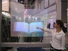 Crystal glass allows you to present images on glass / windows.  #DigitalVM #interactiveWindows #DigitalWindows #ShopperMarketing