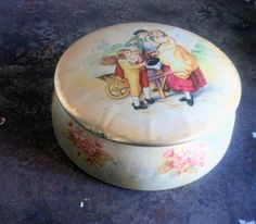 vintage tin container made in england shabby chic decor. Starting at $4 on Tophatter.com!