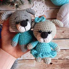 1000 схем амигуруми на русском: Собачки амигуруми