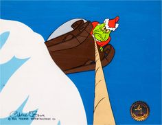 Animation Art: Production Cel, Dr. Seuss' How the Grinch Stole Christmas Grinch Production Cel Signed by Chuck Jones (MGM, 1966).....