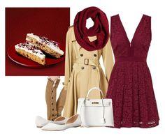 """cranberry bliss bar starbucks"" by kurlyglamour ❤ liked on Polyvore featuring mode, Jean-Paul Gaultier, Free People, Hermès, Steve Madden en prAna"