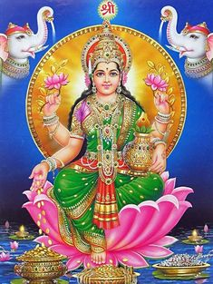 Lakshmi is mentioned once in Rigveda, where it means kindred mark or sign of auspicious fortune Lakshmi hindu art Lakshmi wealth Lakshmi goddesses Lakshmi haram Lakshmi tanjore painting Lakshmi vaddanam Lakshmi bangle Lakshmi decoration Lakshmi necklace Art Nouveau, Gayatri Devi, Saraswati Goddess, Lakshmi Images, Lakshmi Photos, Lord Shiva Family, Indian Goddess, Lord Vishnu Wallpapers, Hindu Dharma
