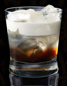 White Russian  5 parts Russian Standard vodka  2 parts coffee liqueur  3 parts fresh cream    Can never go wrong with a classic