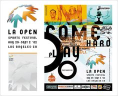 Sports event branding. Design: Marc Posch Design, Inc. Los Angeles