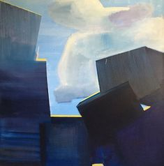 Breakwaters in back-light 2019 oil on canvas 150x150 cm Artificial Coral, Concrete Structure, Art For Sale, Oil On Canvas, Im Not Perfect, Utca, Wildlife, Sky, Landscape