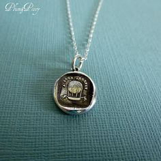 A Good Journey Hot Air Balloon Wax Seal Necklace - Travel Jewelry - Bon Voyage