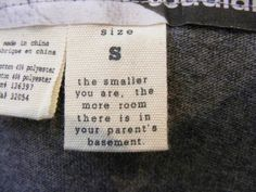 funny clothing label 1