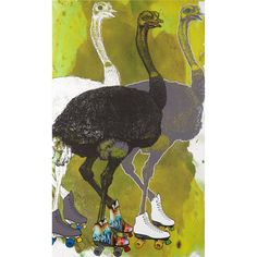 i love this ostriches print