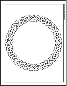 Circle Braid Wreath Celtic Coloring Page