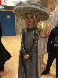 Raincloud costume #halloween #shrovetide #raincloud #hat #headpiece