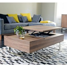 Click to zoom - Reveal coffee table walnut