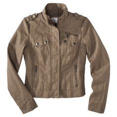 Xhilaration Junior S Faux Leather Bomber Jacket Assorted Colors