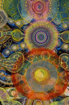 Bruce Rıley'in sezgisel reçine resim sanatı