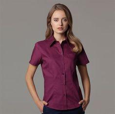 Ralawise. Women's corporate pocket Oxford blouse short sleeved KK719