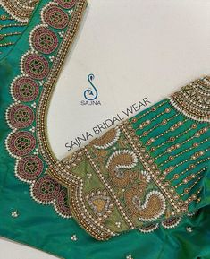 To get your outfit customized visit us at Chennai, Vadapalani or call/msg us at / for appointments, online order… Hand Work Blouse Design, Stylish Blouse Design, Fancy Blouse Designs, Bridal Blouse Designs, Lehenga Designs Simple, Embroidery Neck Designs, Designer Blouse Patterns, Sleeve Designs, Chennai