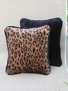 """Velveteen Black Back on Golden faux Animal Print 13""""x 11"""" www.etsy.com/shop/rrdesigns561"""