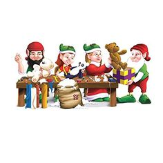 5ft Santa Elf Workshop Wall Mural Holiday Christmas Scene Setter Photo Backdrop Most Sold Item ** You can find more details by visiting the image link.  This link participates in Amazon Service LLC Associates Program, a program designed to let participant earn advertising fees by advertising and linking to Amazon.com.