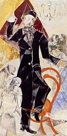 """Marc Chagall - Between Surrealism & NeoPrimitivism - """"Theatre"""", 1920 Marc Chagall, Pablo Picasso, Folklore Russe, Russian Avant Garde, Pin Up, Fauvism, Jewish Art, Henri Matisse, Heart Art"""