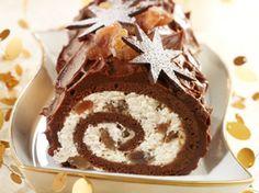 Découvrez la recette Bûche chocolat aux marrons glacés sur cuisineactuelle.fr.