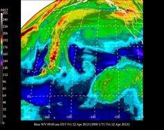 University of Hawaii Meteorology:  HNL Honolulu Airport Weather  0900 HST Friday April 12 2013		Temperature - 77o  Rel. Humidity - 76%  PARTLY SUNNY  Winds - E 7 mph N/A