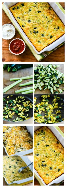 Zucchini and Green Chile Breakfast Casserole; I like this so much I'd even buy zucchini to make it! #LowCarb #GlutenFree #HealthyBreakfast