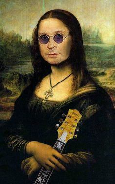 Humor-Mona Lisa-Ozzy Lisa